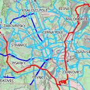 Nová mapa doporučených tras