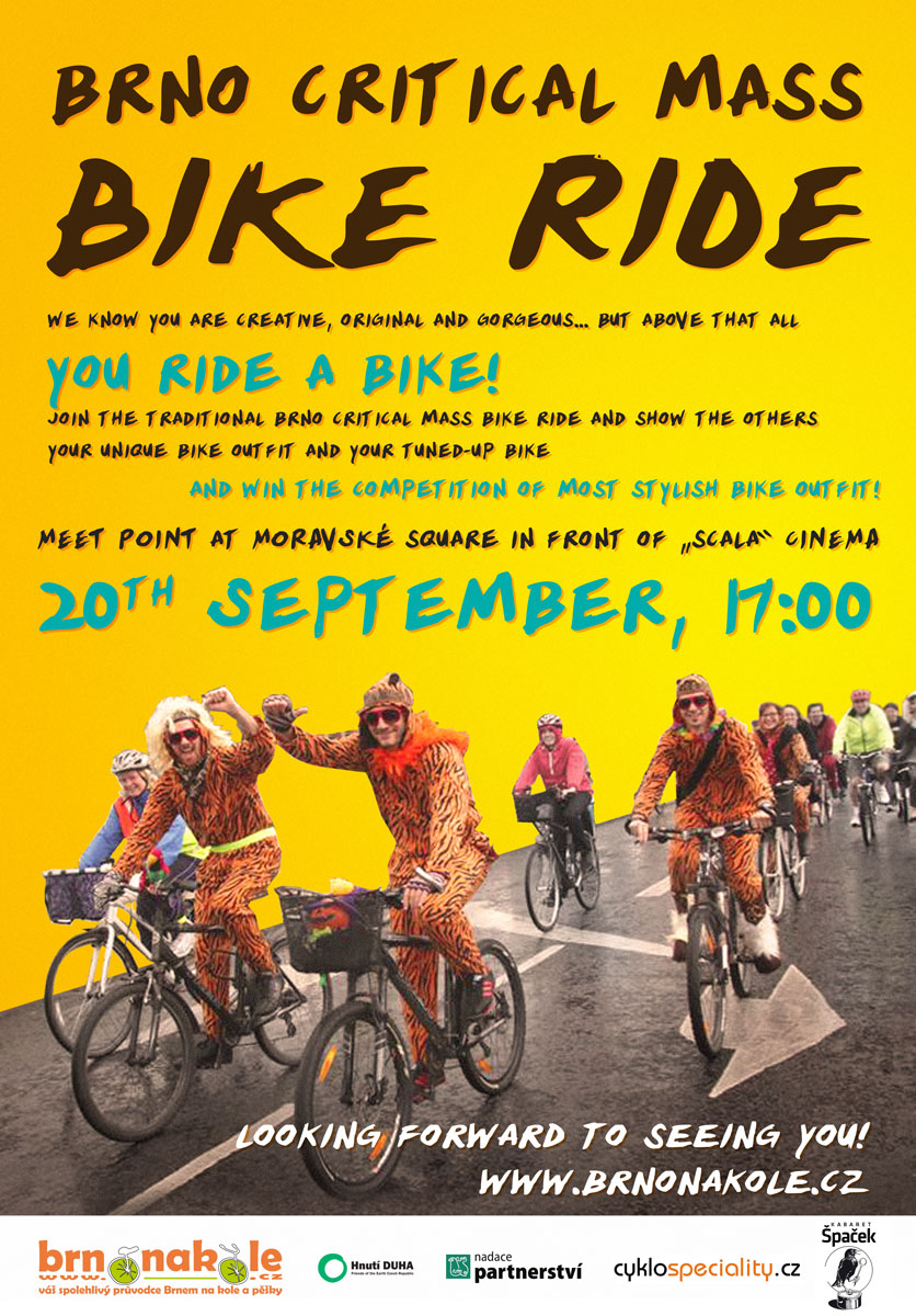 Join the critical mass ride on 20th September 2012