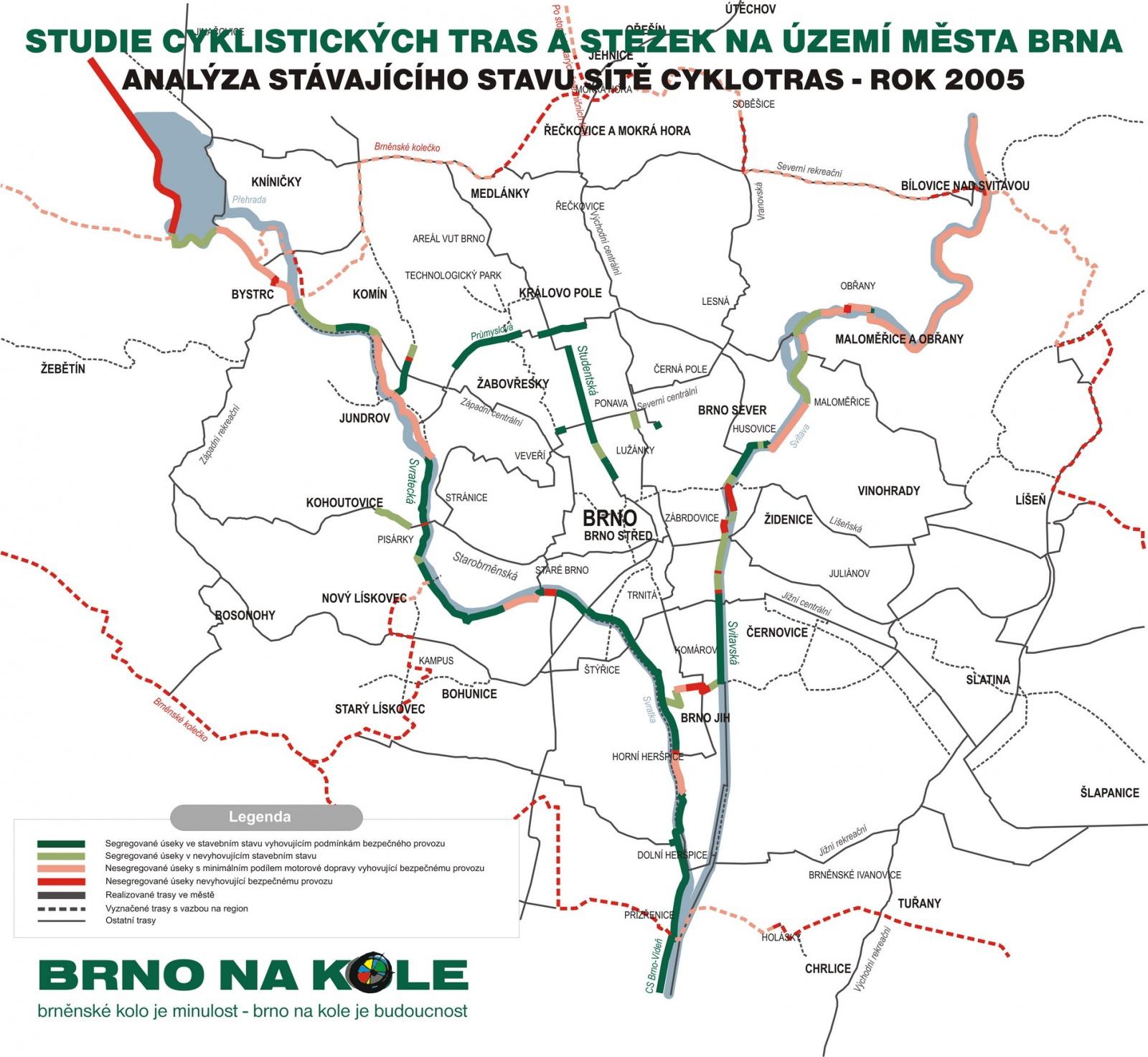 Studie cyklistických tras a stezek na území města Brna