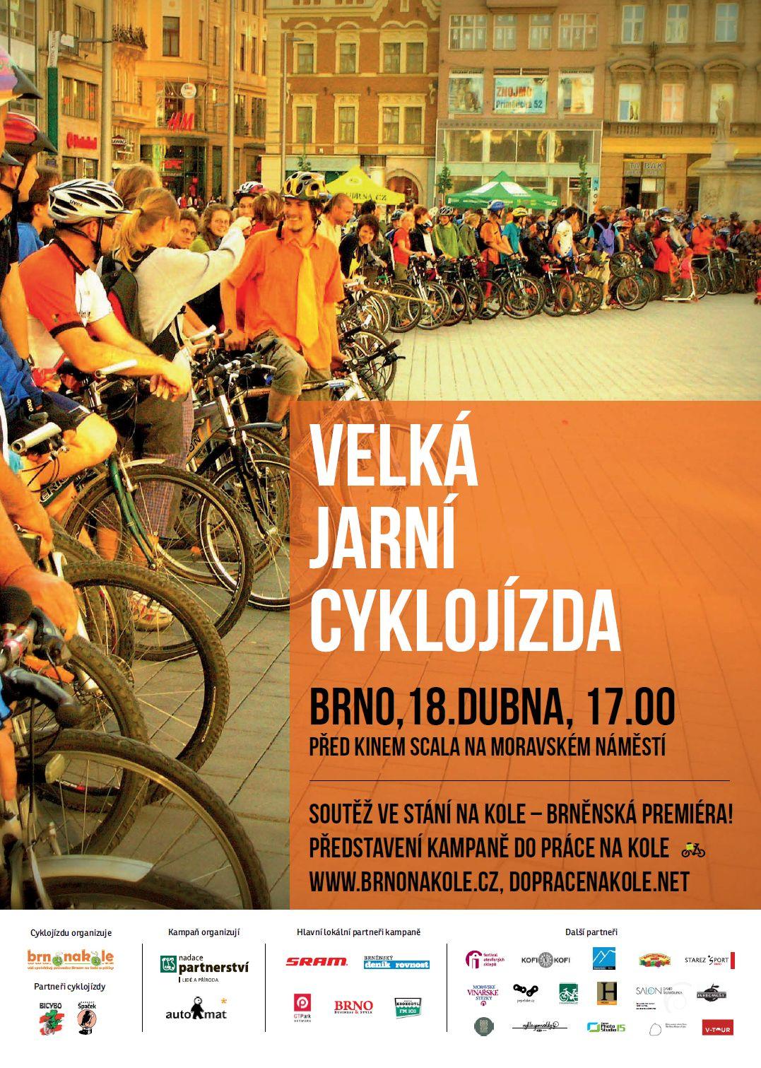 Přijďte na velkou jarní cyklojízdu 18. dubna 2013