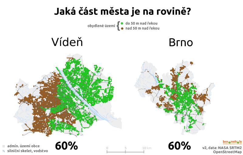 Brno i Vídeň mají dost roviny na kolo