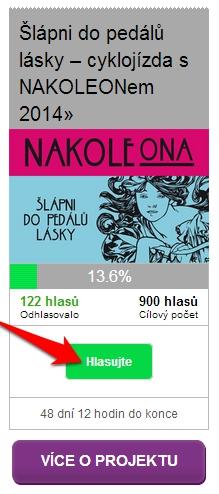 NAKOLEON hledá 900 hlasů