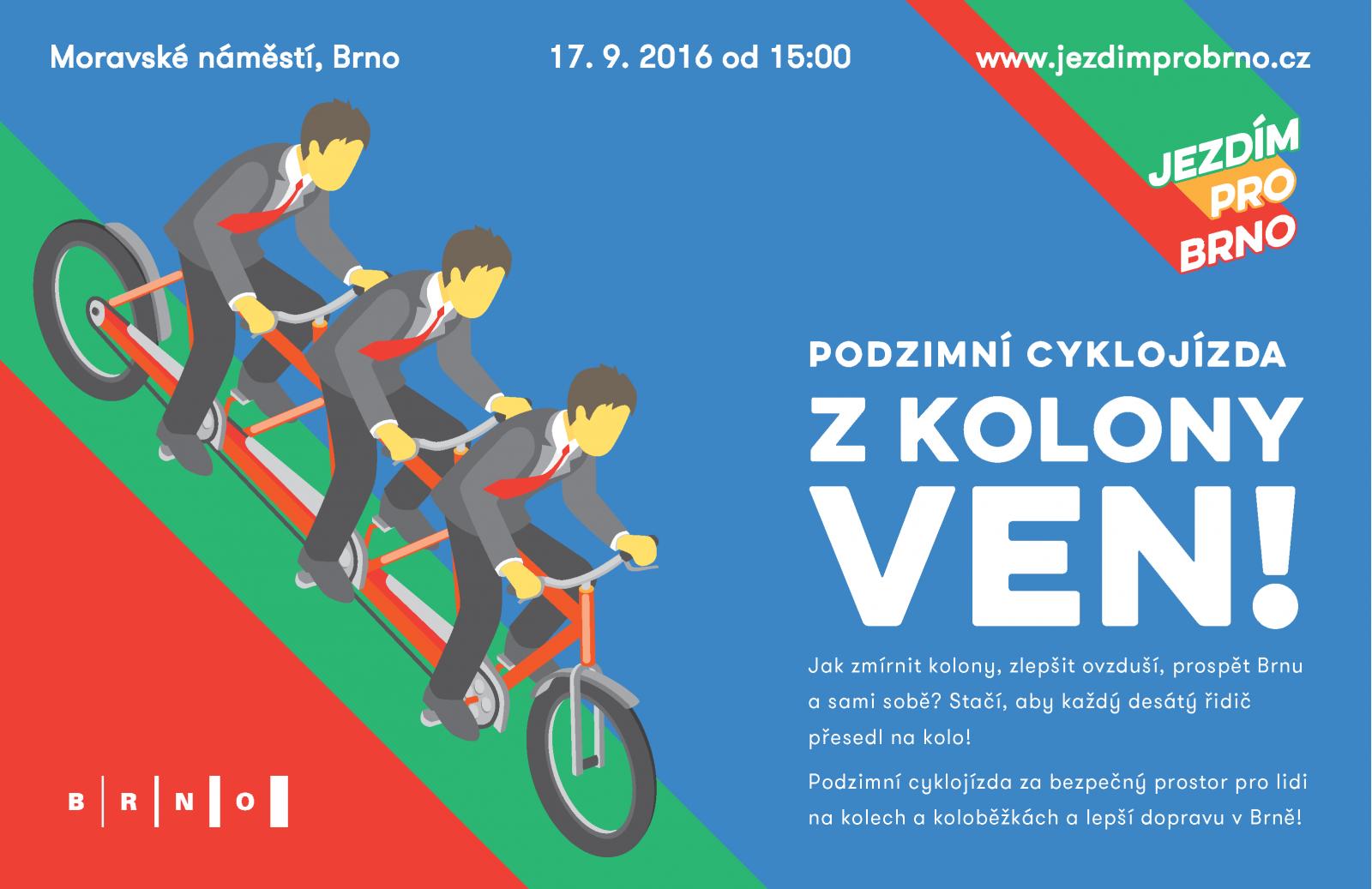 Z kolony ven! Podzimní cyklojízda / Critical Mass Brno 17. 9. 2016