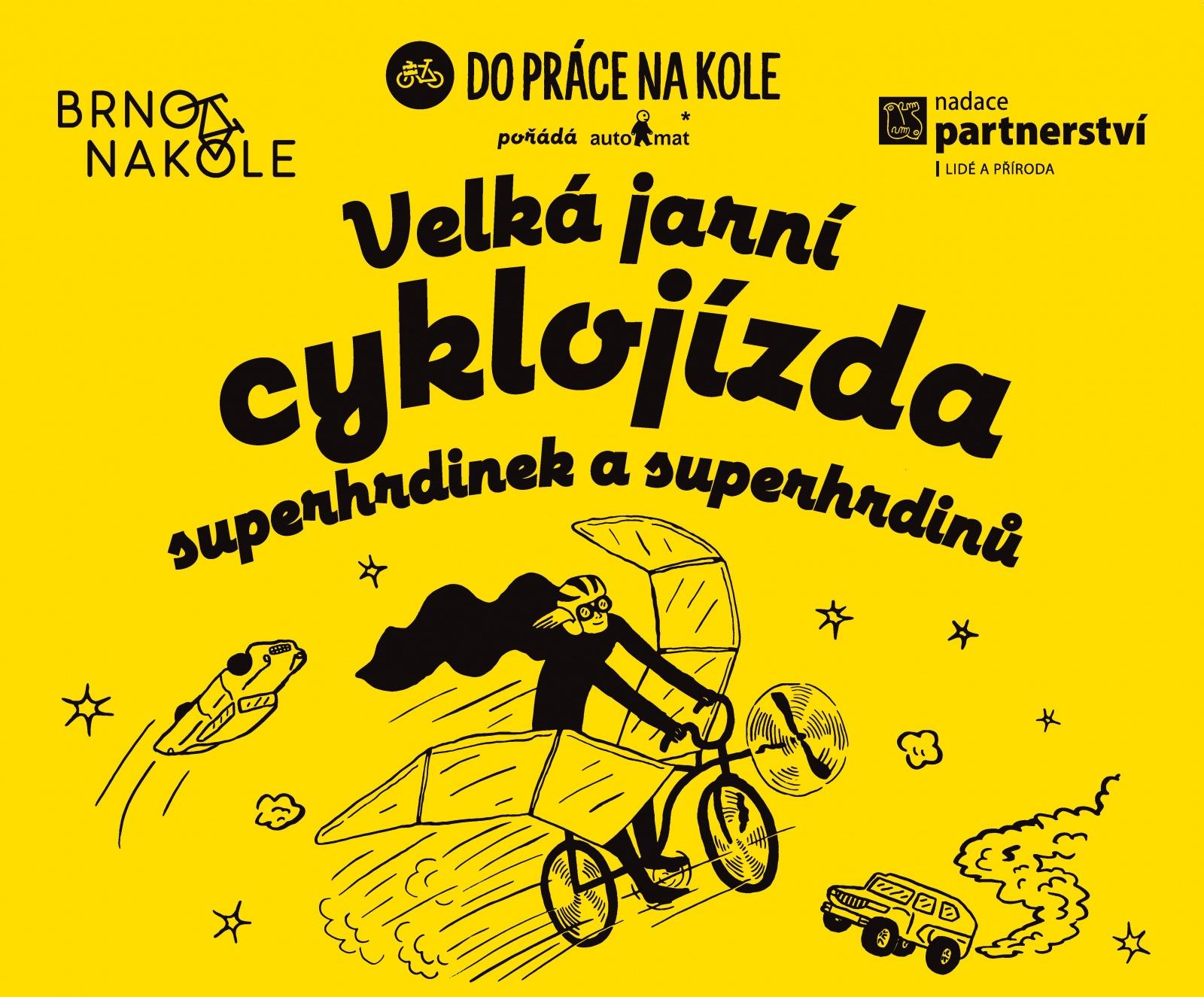Velká jarní cyklojízda superhrdinek a superhrdinů