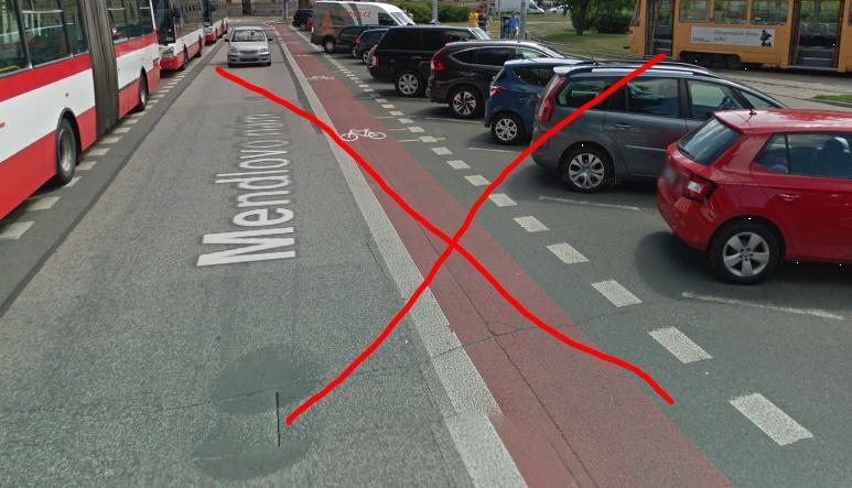 Válka proti lidem na kolech? Policie požaduje rušení cykloobousměrek, Brno přitakává