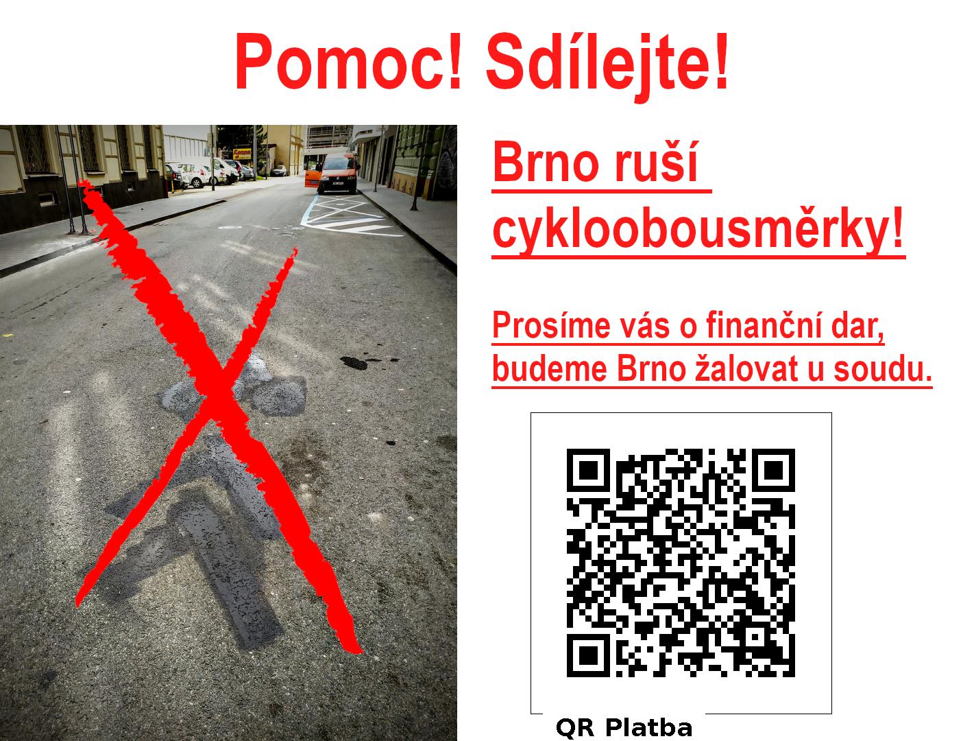 Brno vážně ohrožuje bezpečnost silničního provozu, zodpovídat se bude u soudu. Přispějte na žalobu!
